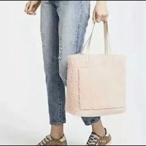 Madewell pink sheerling transport tote